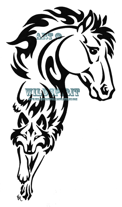 400x676 Tattoo Clipart Horse