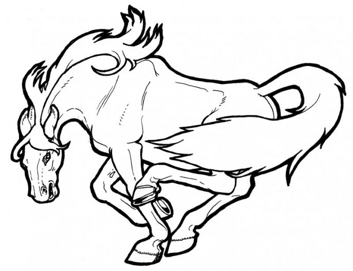 687x528 Coloring Pages Fancy Mustang Horse Coloring Pages Rtlnn55mc