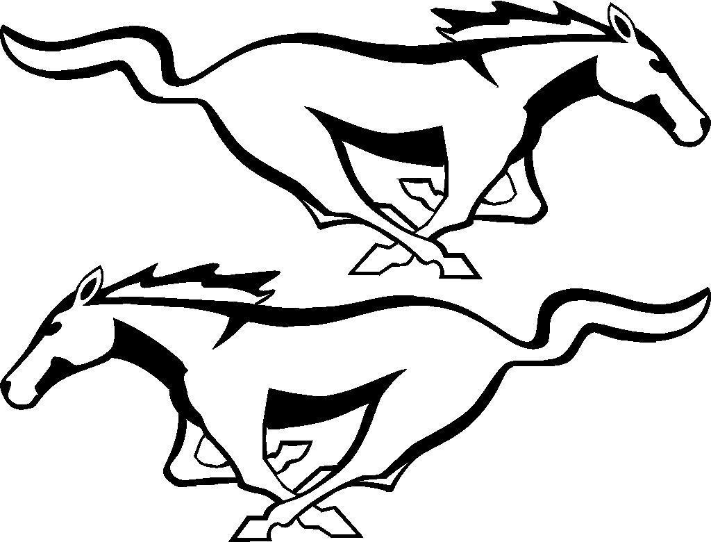 1024x780 Ford Mustang Horse Vinyl Decal Sticker Left And Right Ebay