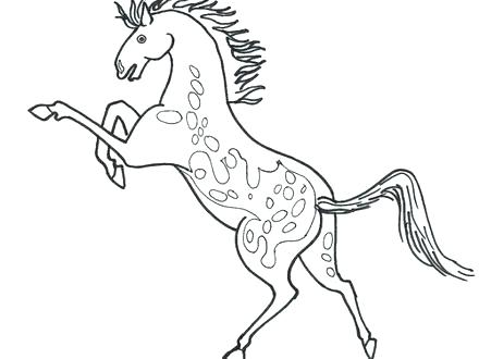 440x330 Mustang Horse Coloring Pages Beautiful Mustang Horse Coloring
