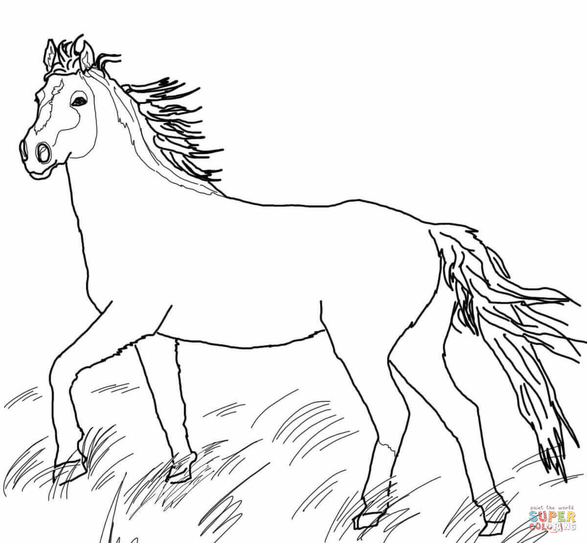 1200x1110 Mustang Wild Horse Coloring Page Free Printable Coloring Pages