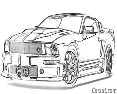 400x322 Ford Mustang Drawing Coloring Page Image Clipart Images
