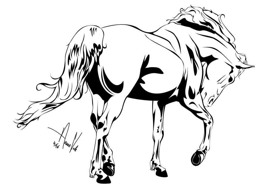 900x649 Horse Outline