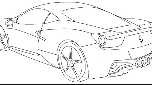 500x280 Sport Cars Coloring Pages Free Ford Fiesta Car Coloring Page Sport
