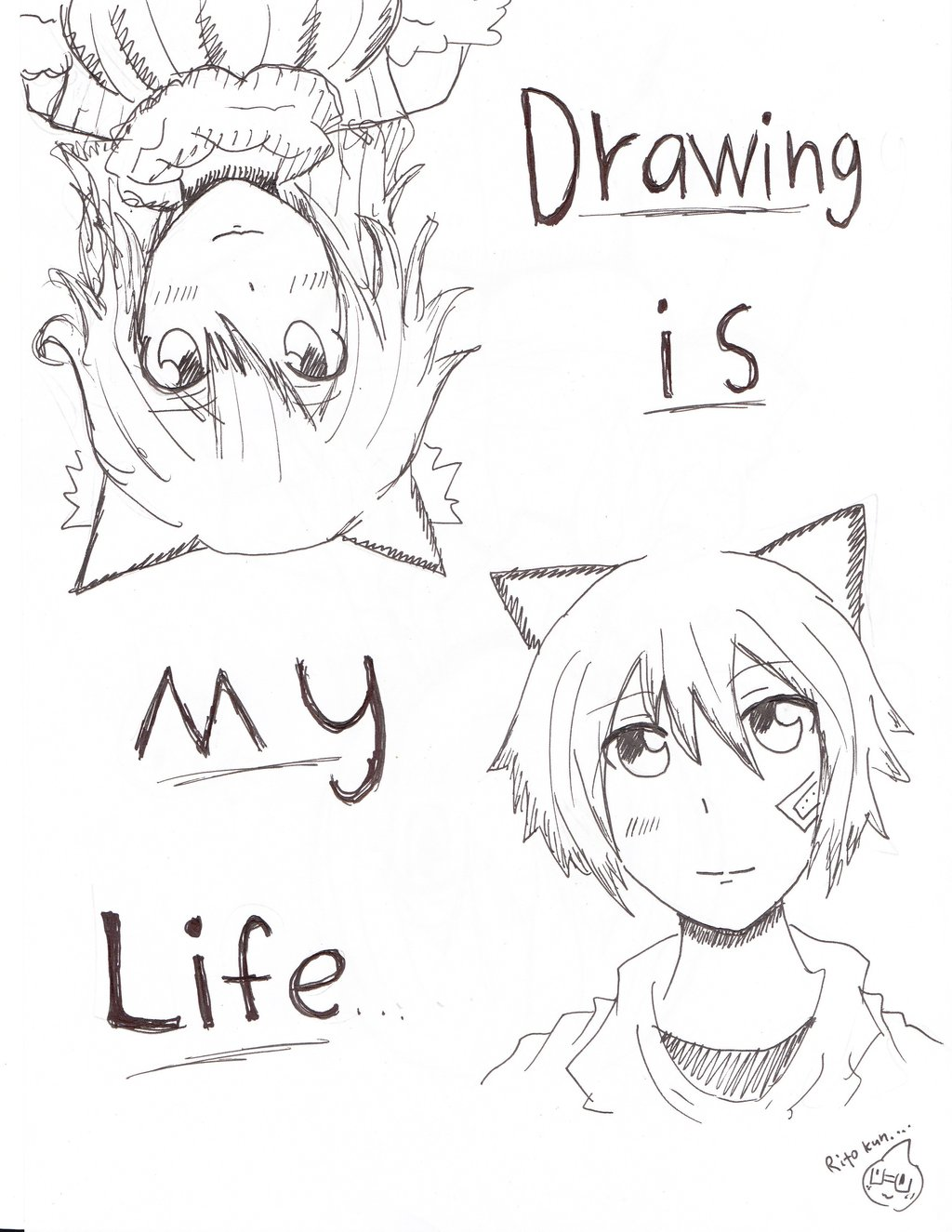 1024x1325 Drawing Is My Life By Ritoxkun