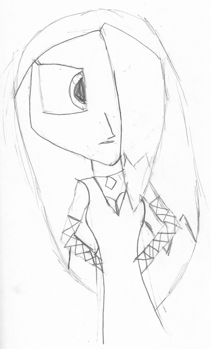 695x1150 My First Anime Drawing 2008 By Darklightanimequeen
