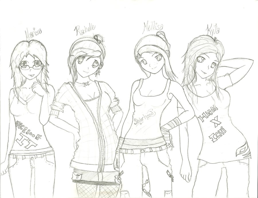 900x691 Anime Club Drawing By Rayrayloser11