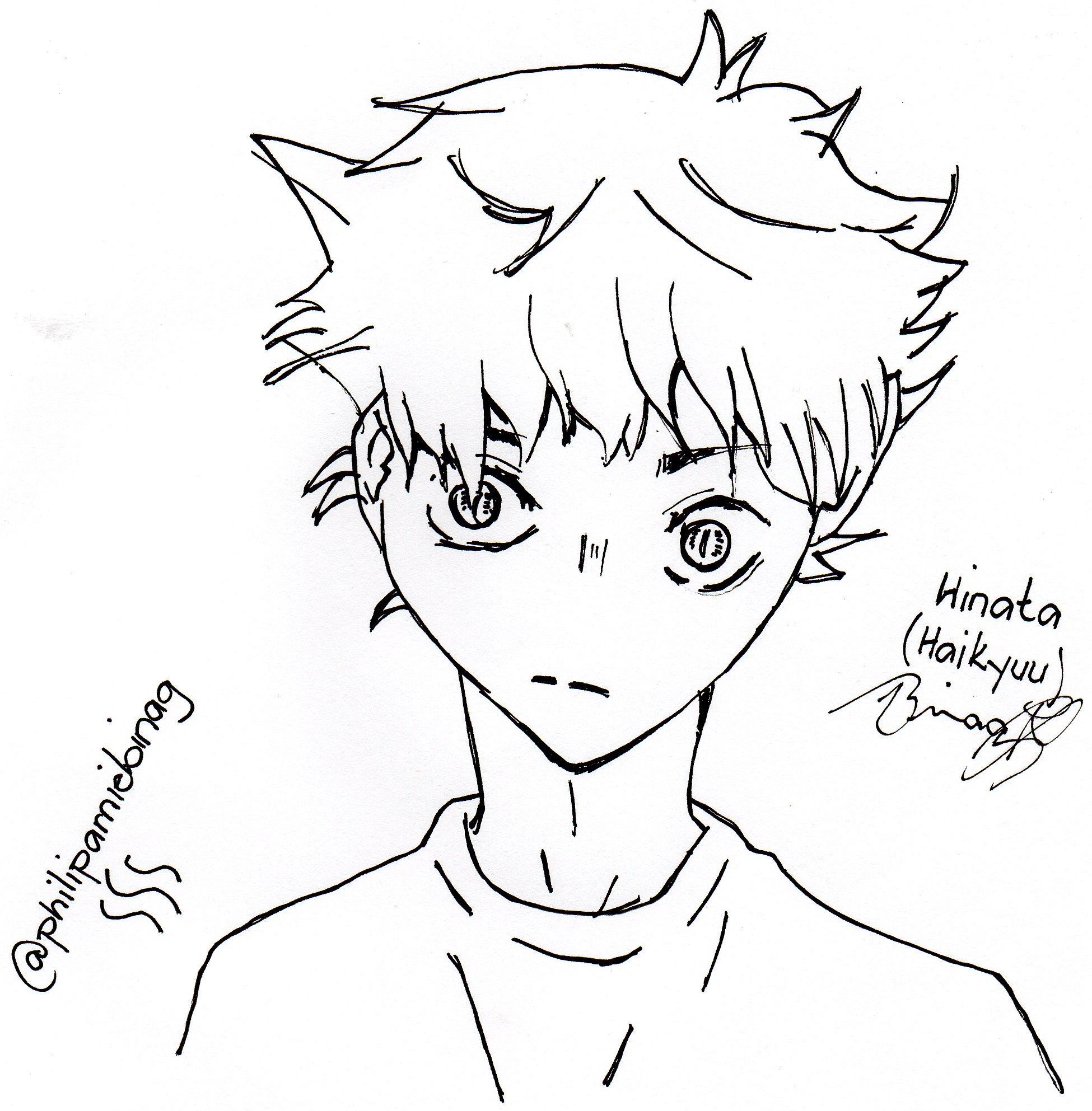 1950x1985 Anime Drawing Challenge Hinata (Haikyuu) Directly Using Pigment