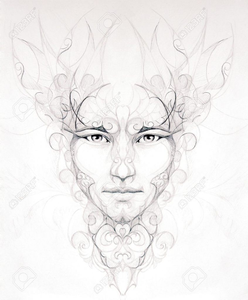 846x1024 Abstract Men Face Pencil Sketch Abstract Face Drawing Butterfly