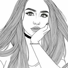 236x236 Drawing, Grunge, Outline, Outlines, Tumblr, First Set