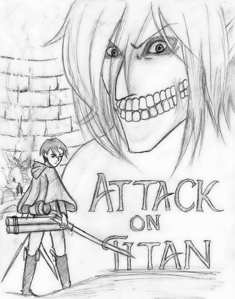 792x1009 Attack Titan Sketch By Demyboilover