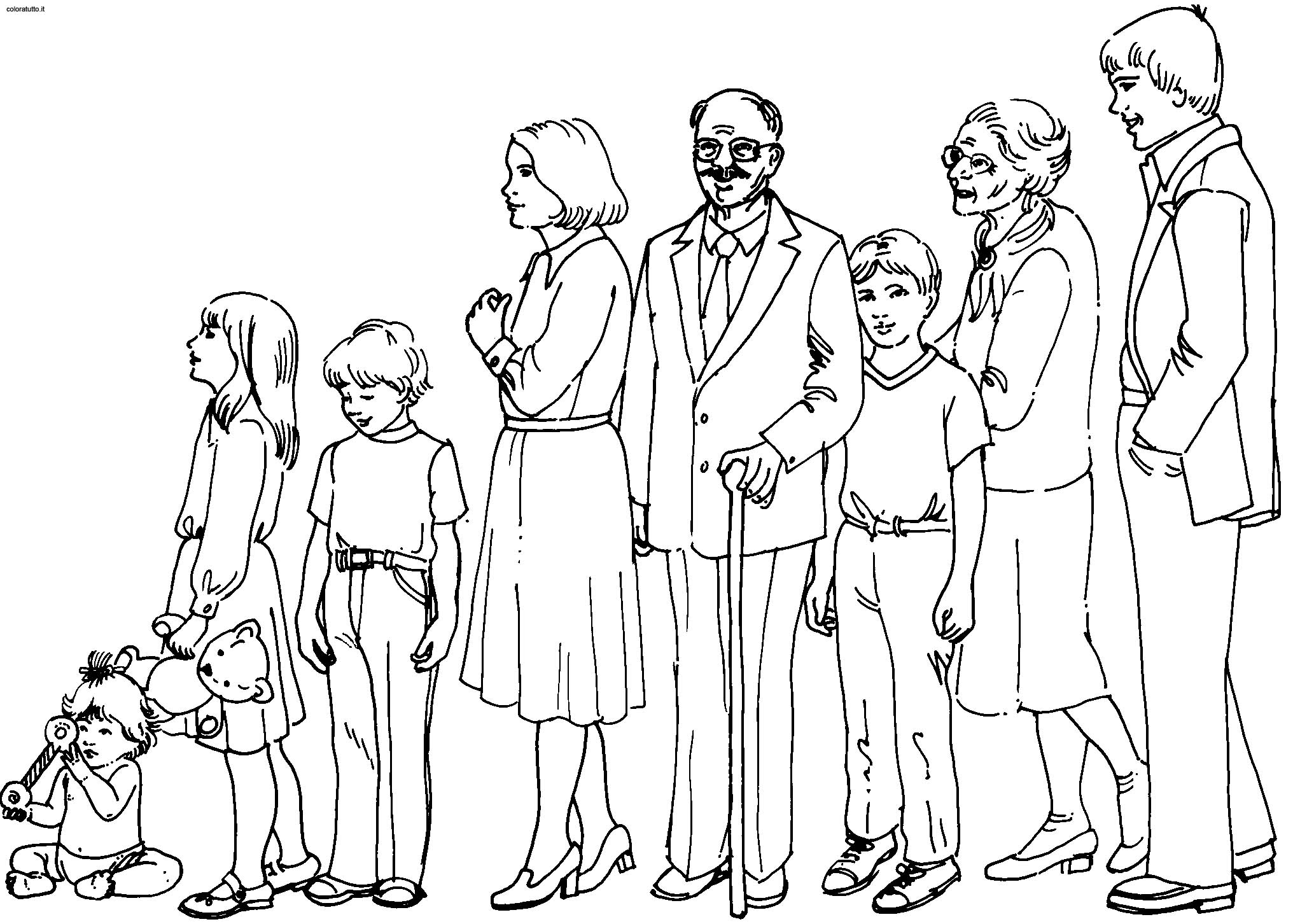 2032x1452 Family 1221x1328 Coloring Pages