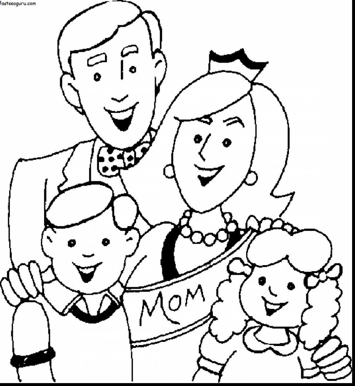 1221x1328 Family Coloring Pages For Toddlers Coloring Page For Kids