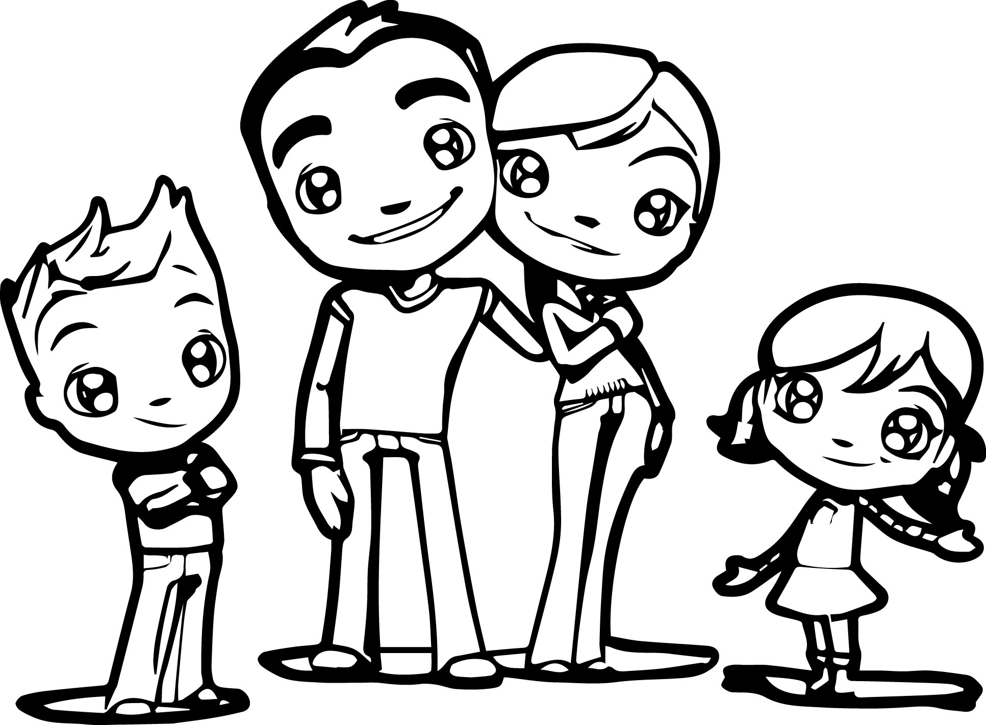 Nice Family Pictures To Color Festooning - Printable Coloring Pages ...