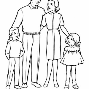 coloring pages family members - photo#44