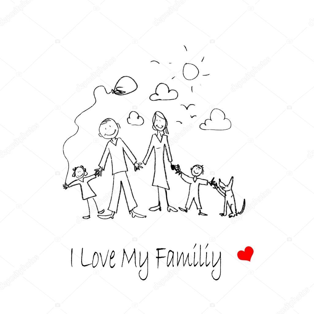 1024x1024 I Love My Family Stock Photo Sergeynivens