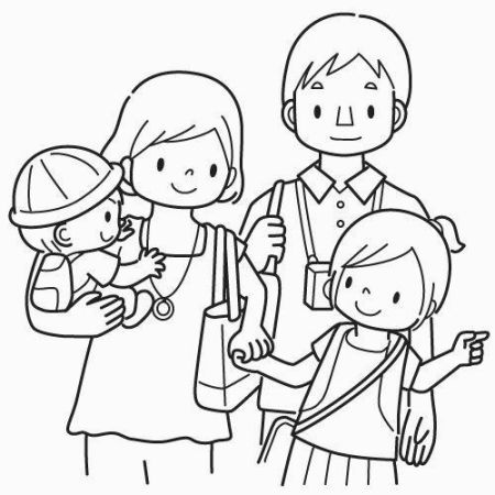 450x450 My Family Coloring Sheets My Family Coloring Pages