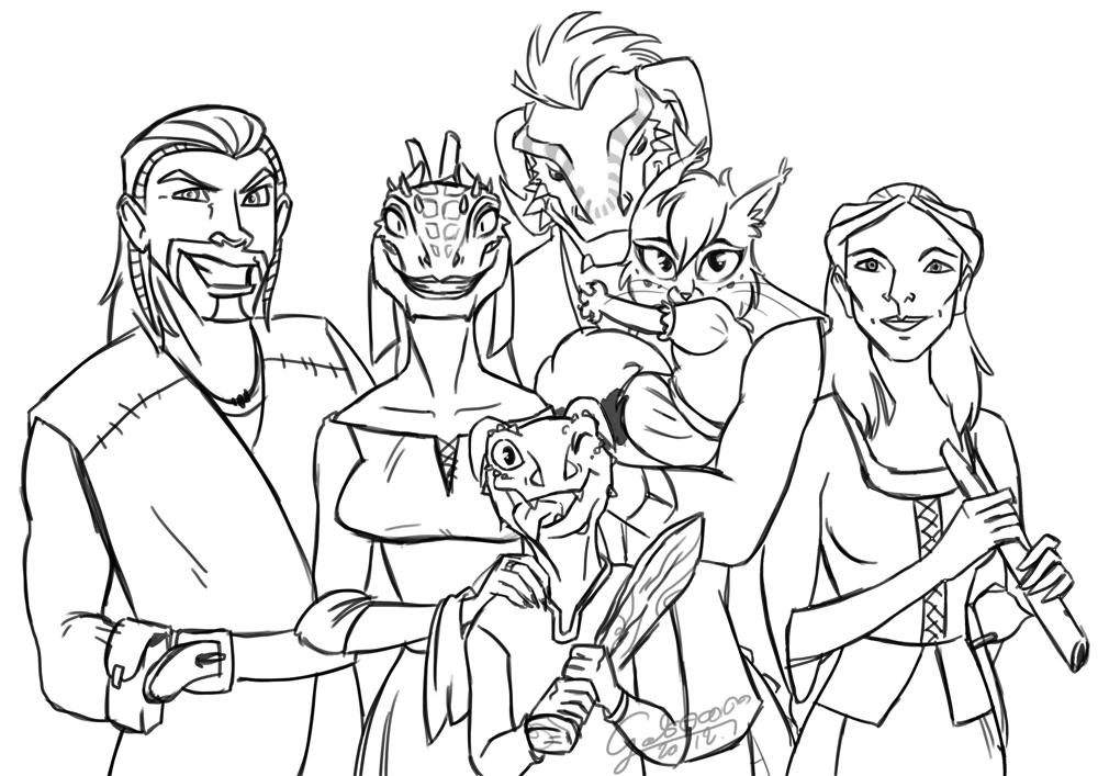 1000x707 My Family In Skyrim By Galoogamelady