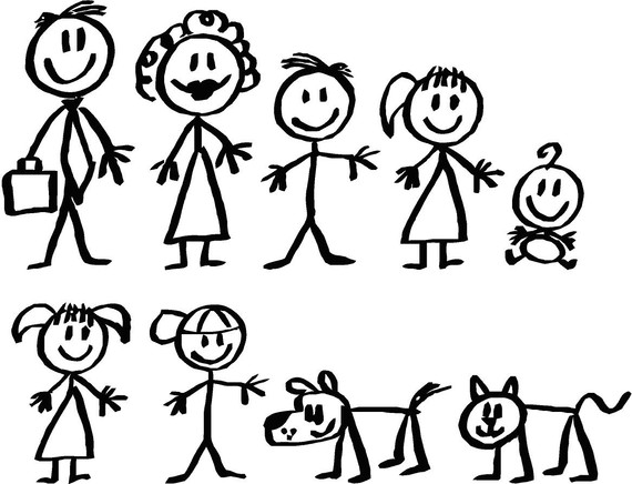 570x436 Stick Figure Family, Instead Of A Decal On My Car Of My Family I