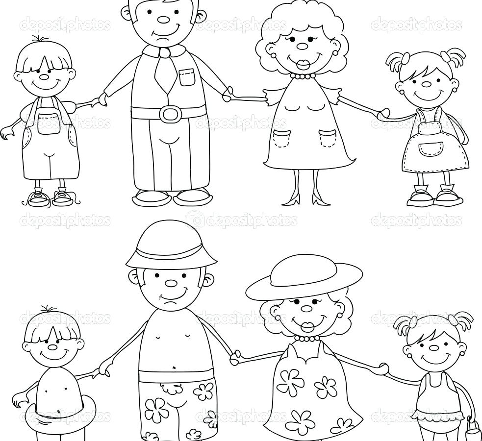 983x900 Coloring My Family Coloring Page