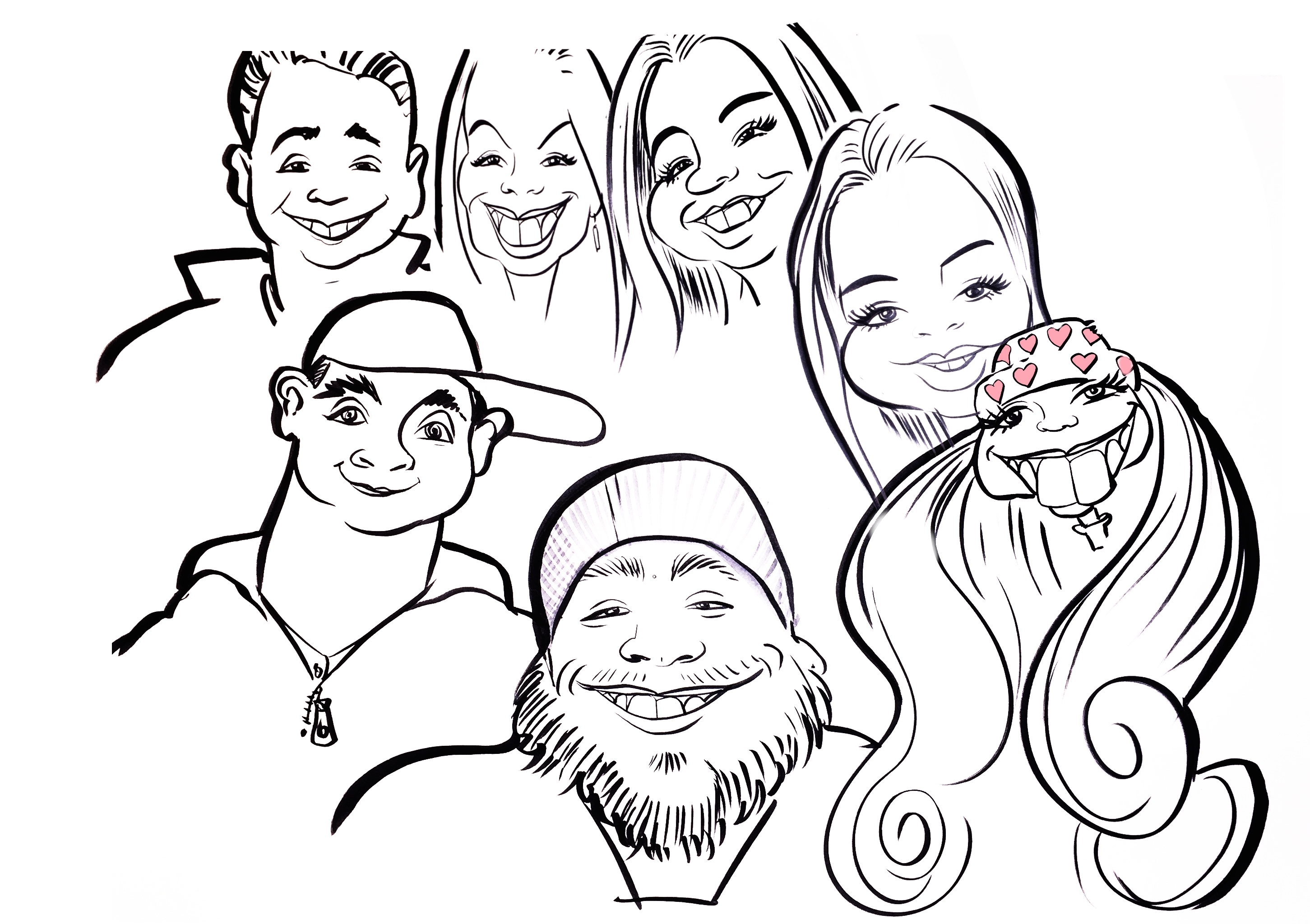 2903x2048 Caricature Draw My Family And I Going On Our North Carolina Cabin