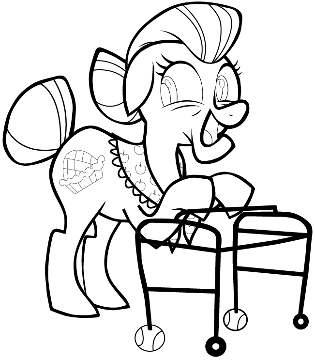 651x743 How To Draw Granny Smith From My Little Pony Friendship Is Magic