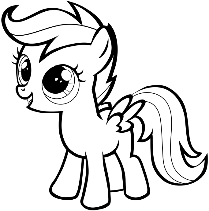683x687 How To Draw A My Little Pony Easy Step By Step For Beginners
