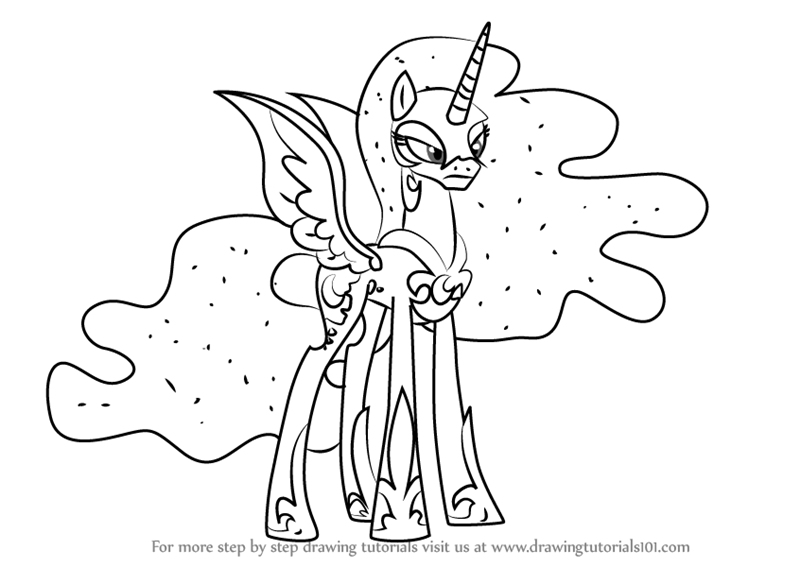 800x567 Learn How To Draw Nightmare Moon From My Little Pony