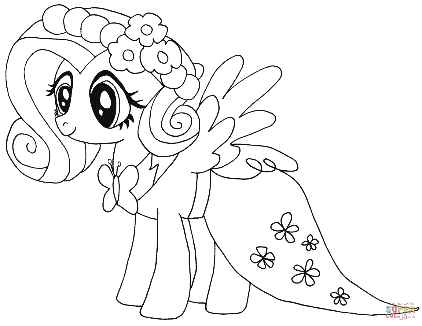 1381x1066 My Little Pony Coloring Pages Fluttershy Colouring In Beatiful