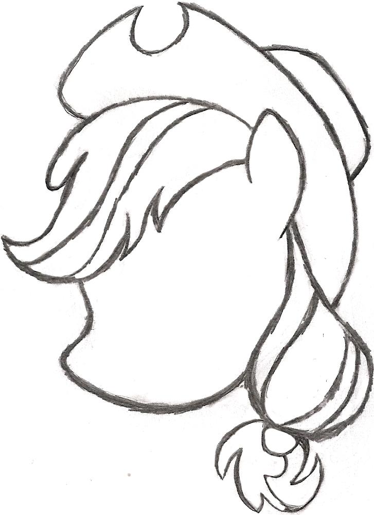 727x1002 My Little Pony Drawing Applejack