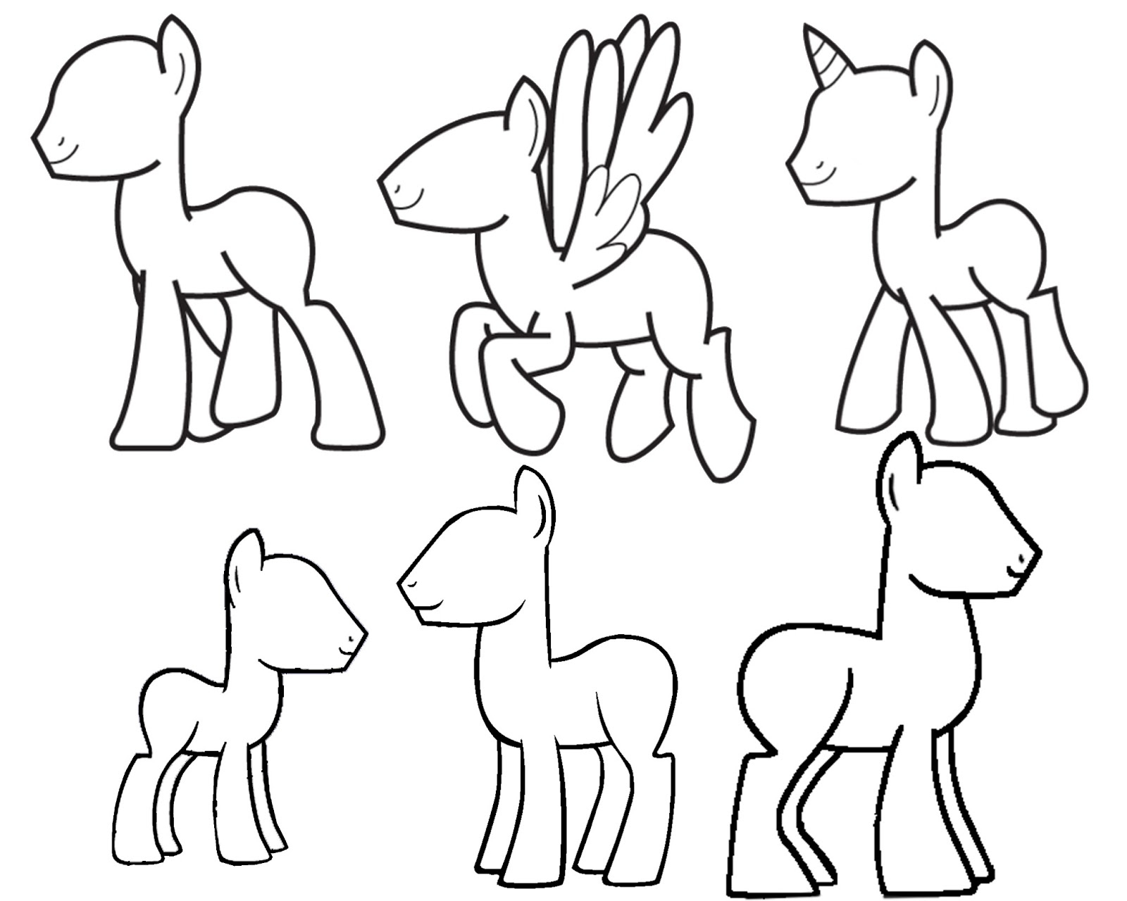 1600x1280 My Little Pony Drawing Template Doodlecraft Design And Draw Your