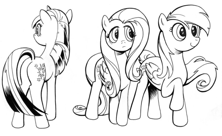 900x551 Ink Studies, My Little Pony By Andypriceart