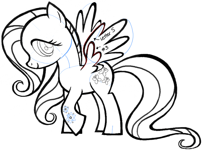 676x502 How To Draw Fluttershy From My Little Pony With Easy To Follow