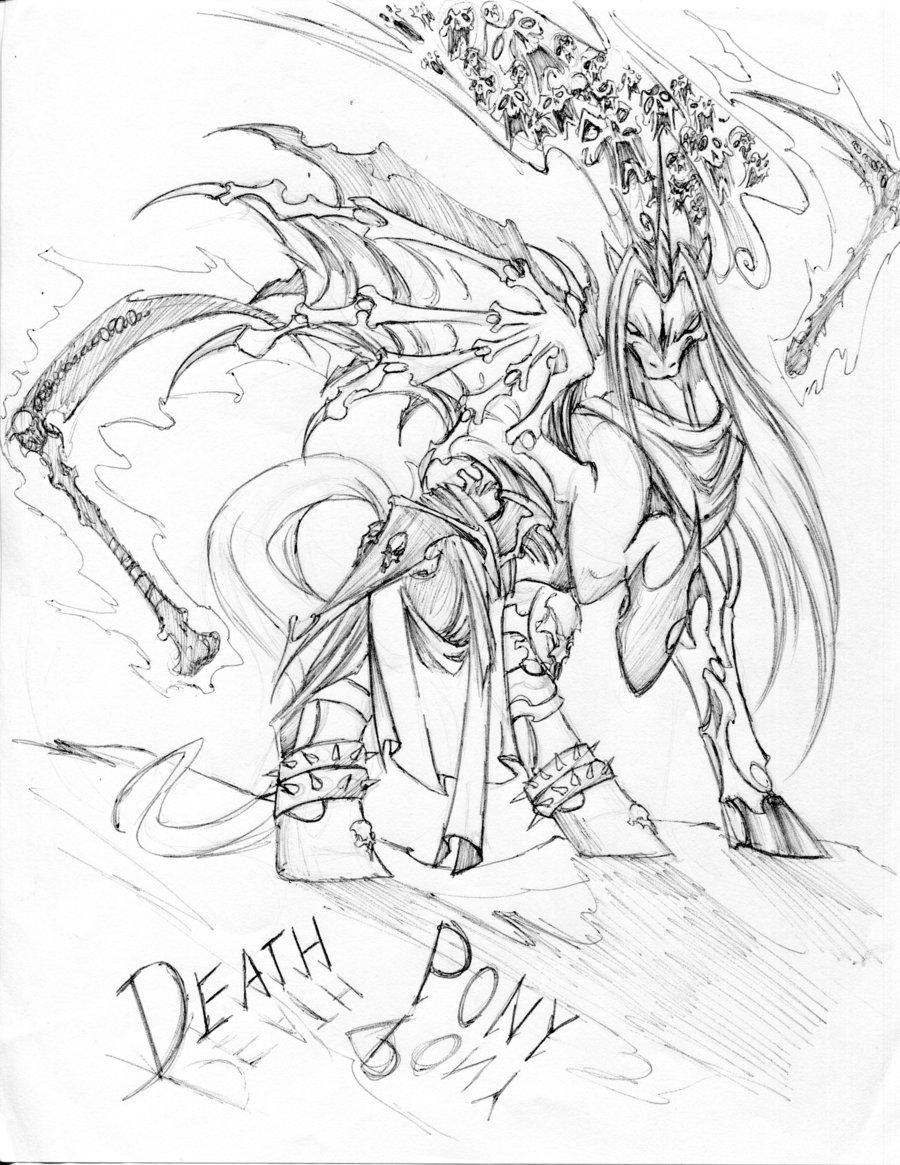 900x1165 Death In My Little Pony By Winddragon24