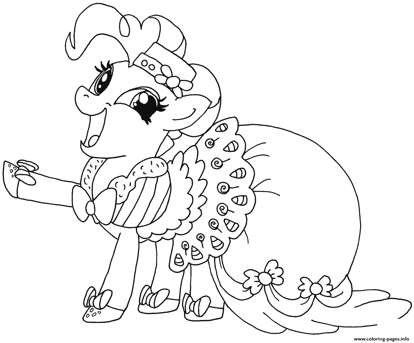 1352x1121 Happy Pinkie Pie My Little Pony Coloring Pages Printable