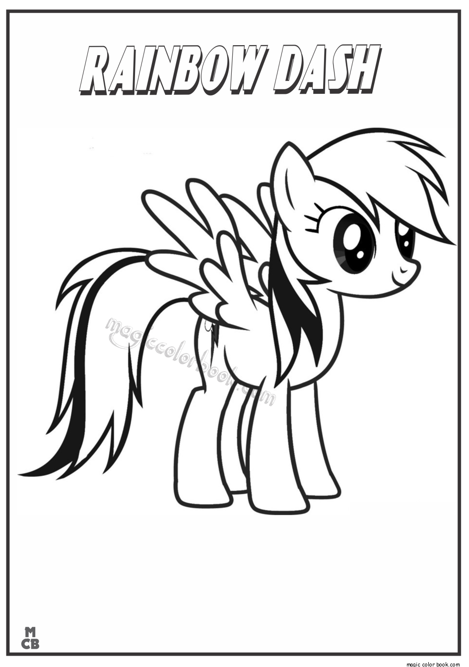 945x1344 My Little Pony Coloring Pages Rainbow Dash
