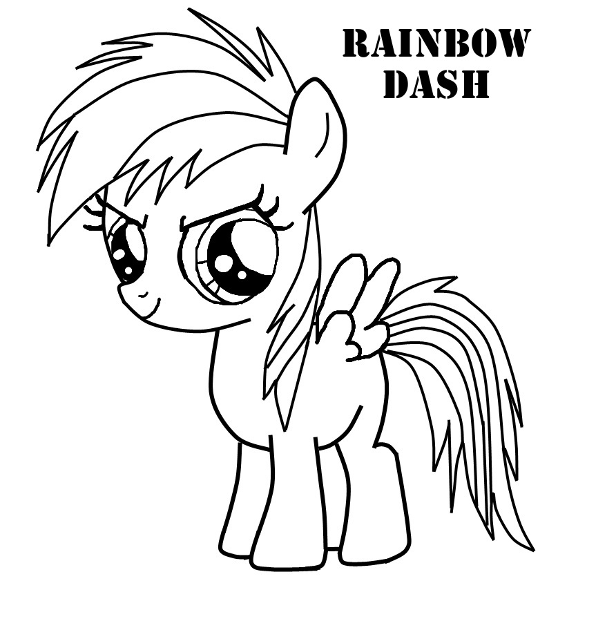 Page With My Little Pony Rainbow Dash 1 892x896 Coloring Pages