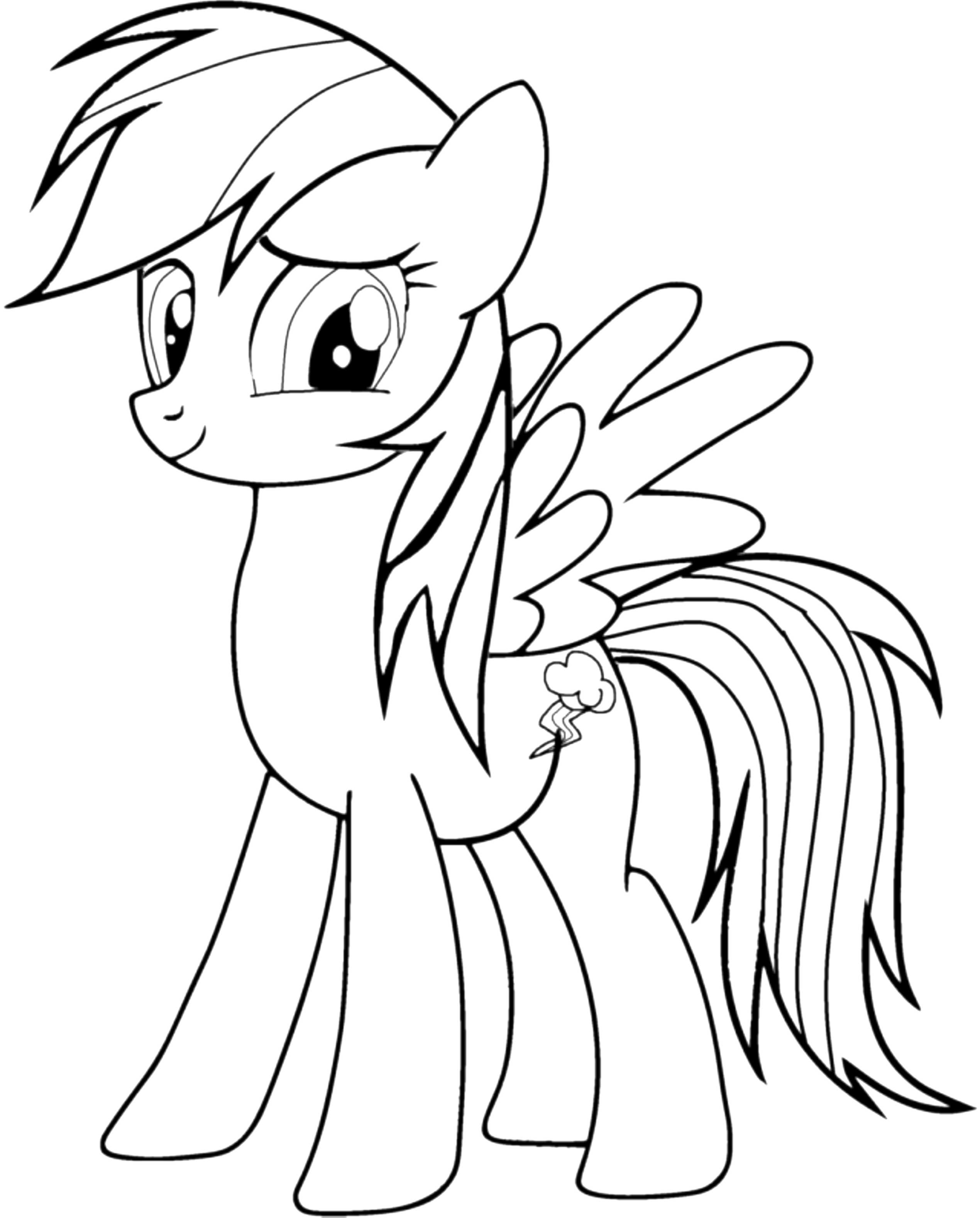 My Little Pony Drawing Rainbow Dash At Getdrawings Com Free For