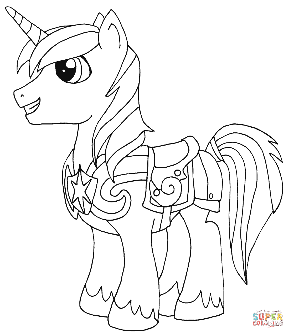 Ausmalbilder My Little Pony Equestria : My Little Pony Drawing Template At Getdrawings Com Free For