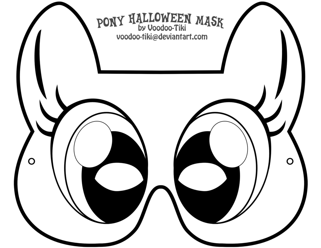 halloween face mask templates - my little pony drawing template at free