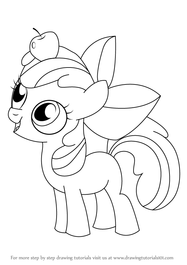 598x844 Learn How To Draw Apple Bloom From My Little Pony Friendship Is