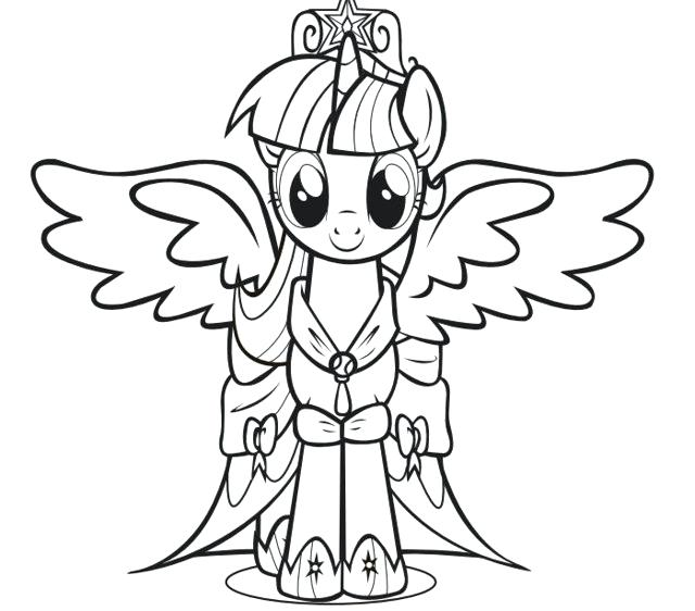 640x562 My Little Pony Friendship Is Magic Coloring Pages Online Little