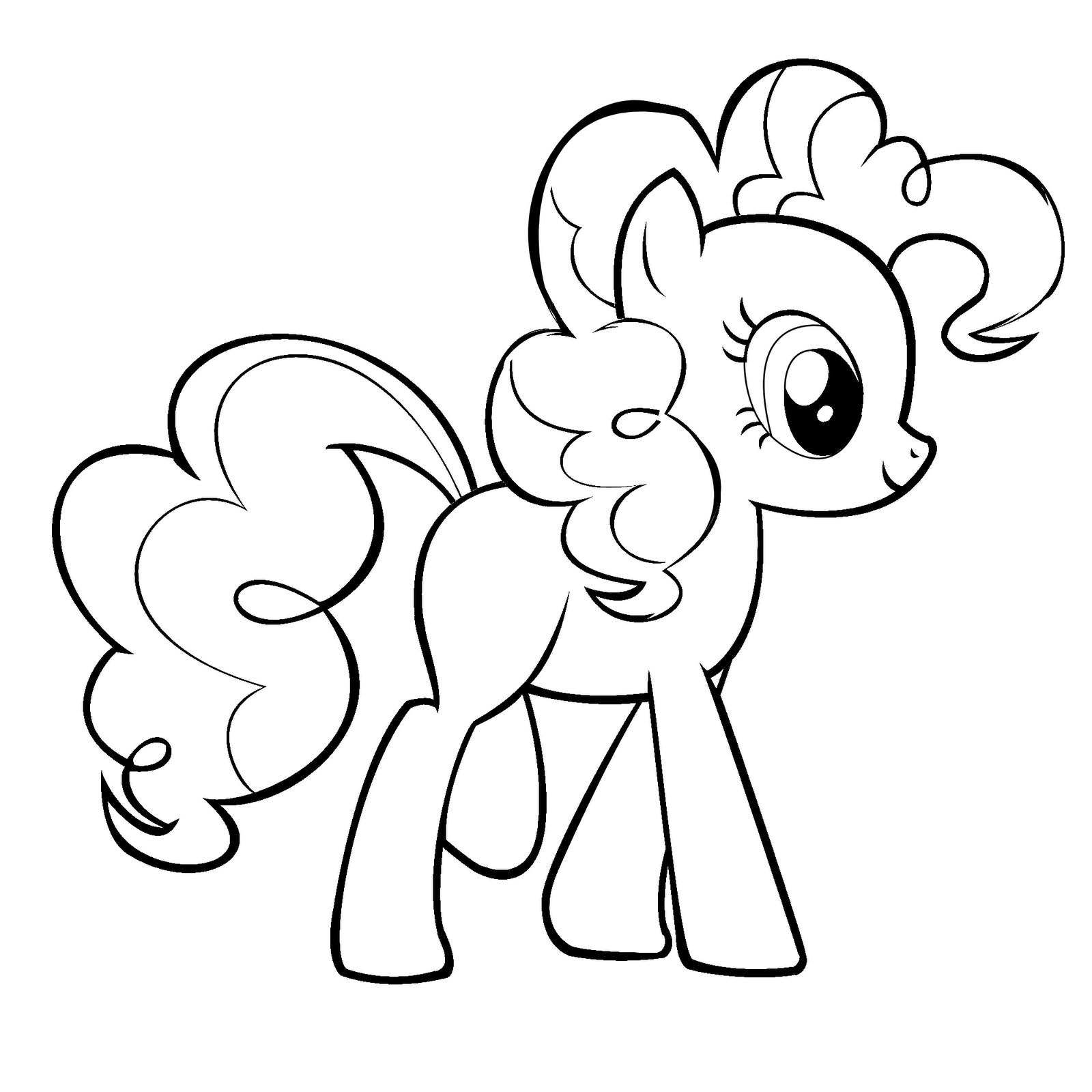 1600x1600 My Little Pony Friendship Is Magic Pinkie Pie Coloring Page Free