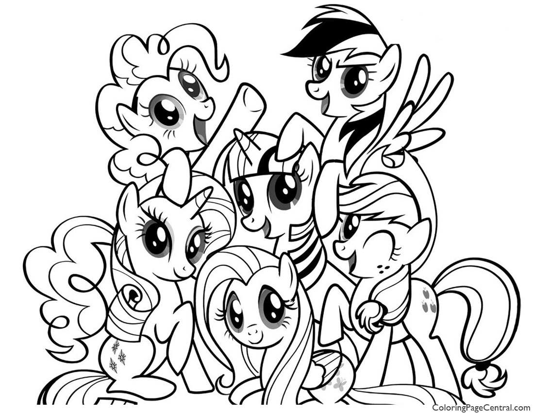 1100x850 My Little Pony Friendship Is Magic 01 Coloring Page Coloring