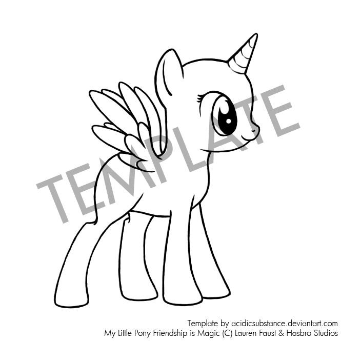665x665 Drawn My Little Pony Hair