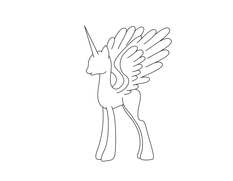 the best free mare drawing images download from 50 free drawings of MLP Alicorn Base 900x700 alicorn mare stencil free by