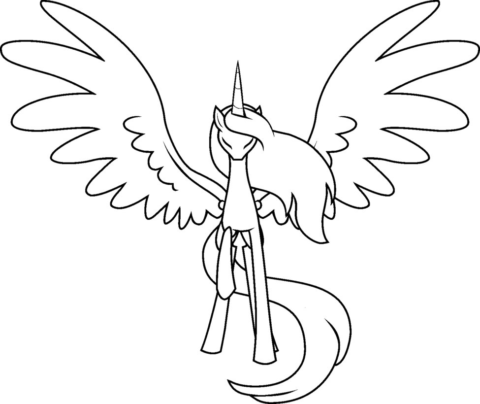 My Little Pony Outline Drawing At GetDrawings