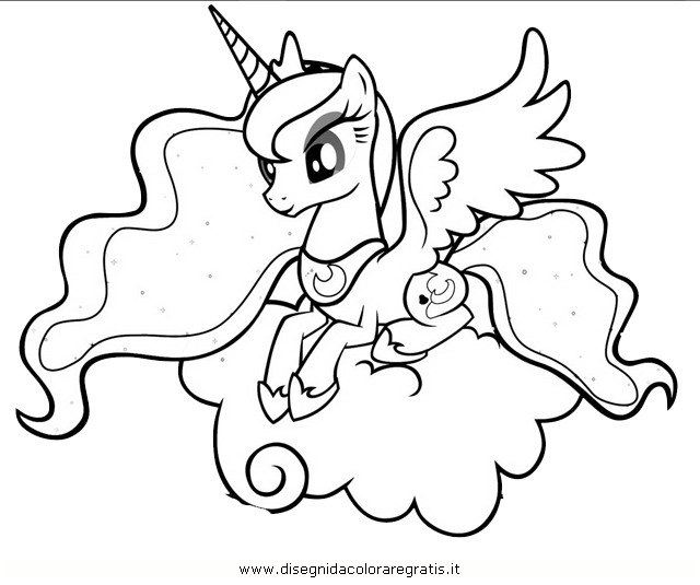 Princess Luna Coloring Pages My Little Pony Outline At Gets For