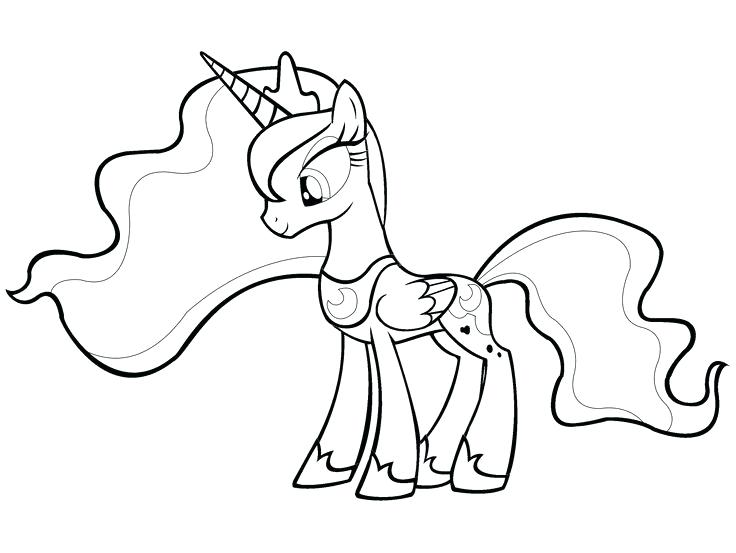 736x553 Color Pages My Little Pony Drawn Princess My Little Pony Pencil