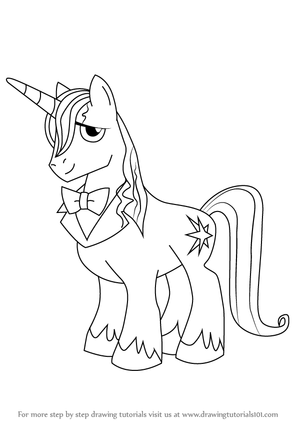 598x844 Learn How To Draw Prince Blueblood From My Little Pony Friendship